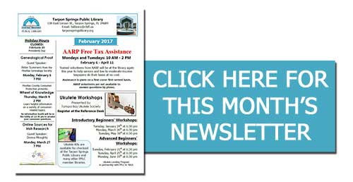 Monthly Library Newsletter – Tarpon Springs Public Library